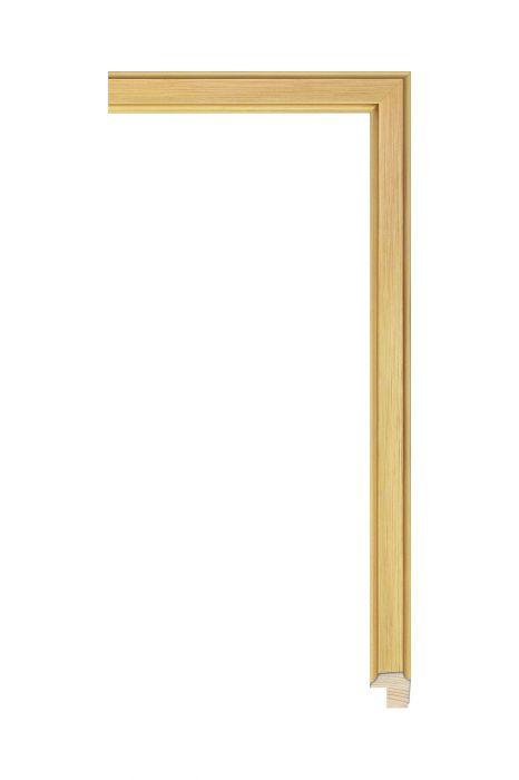Beschrijving: Houten lijst - APART III - Rood met goud 16 mm breed