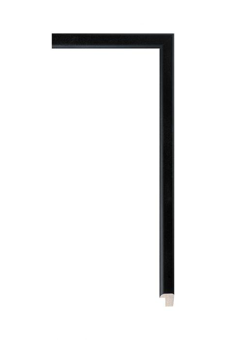 Beschrijving: Houten lijst - PLUS - Zwart 12 mm breed