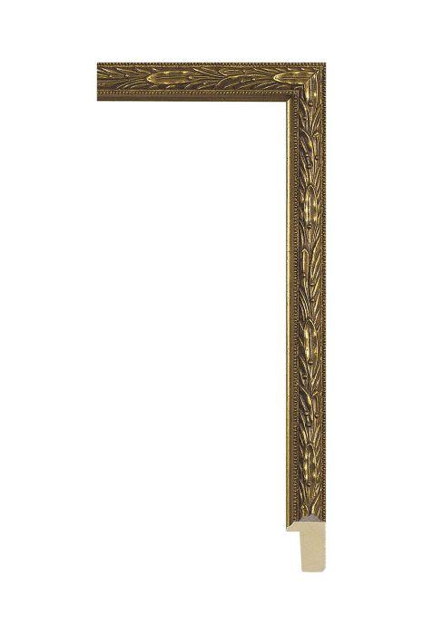 Houten lijst - ALLEGRA - Antiek goud 19 mm breed