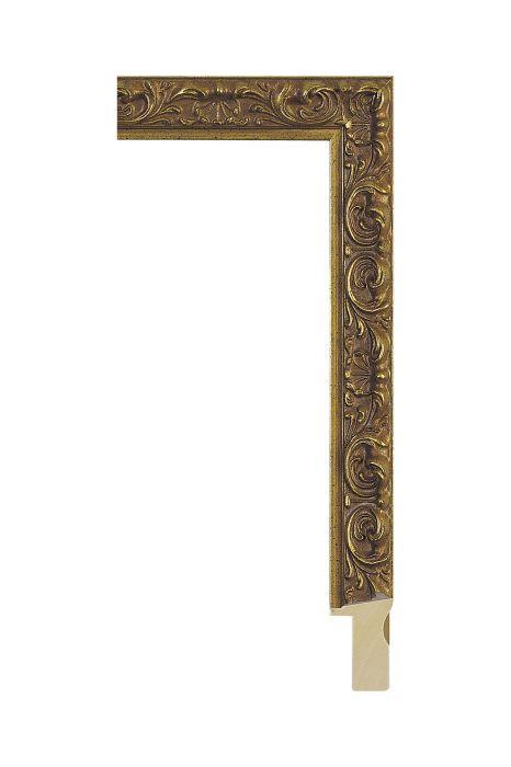 Houten lijst - ALLEGRA - Antiek goud 25 mm breed