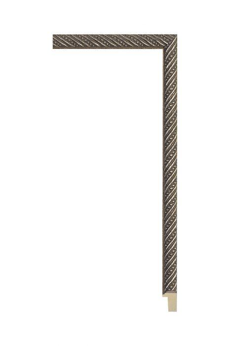 Houten lijst - ALLEGRA - Antiek zilver 13 mm breed