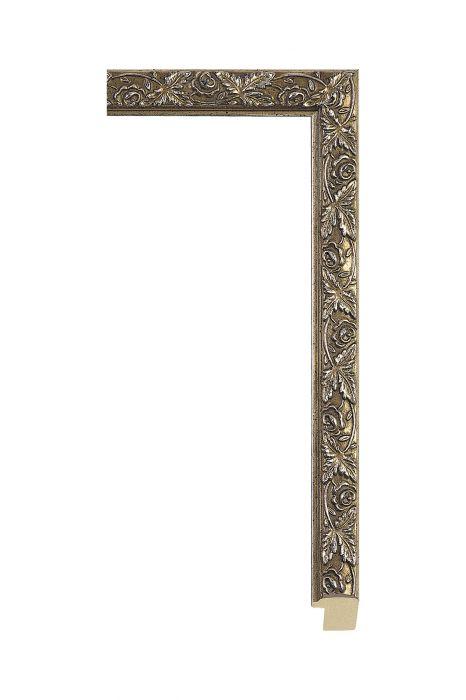 Houten lijst - ALLEGRA - Antiek zilver 22 mm breed