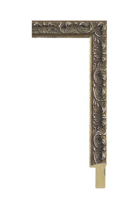 Houten lijst - ALLEGRA - Antiek zilver 25 mm breed