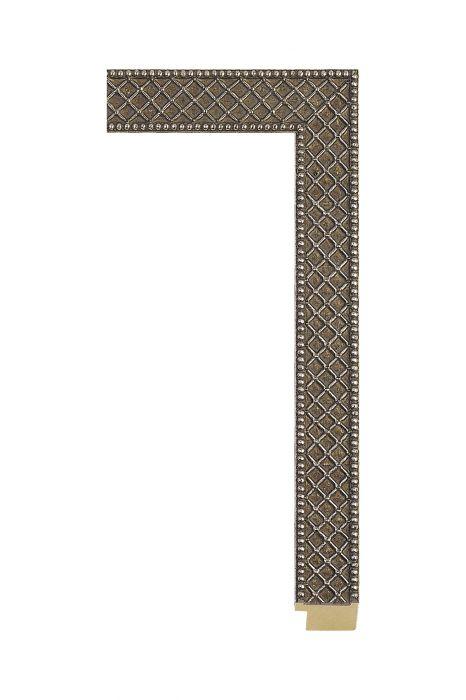 Houten lijst - ALLEGRA - Antiek zilver 29 mm breed