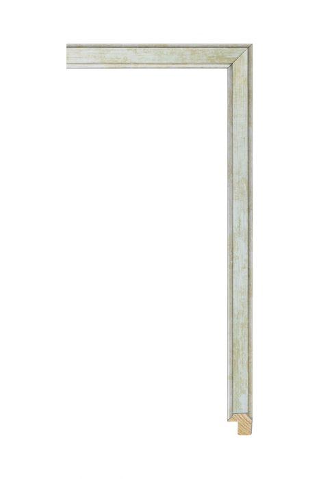 Houten lijst - APART III - Groen met zilver 16 mm breed