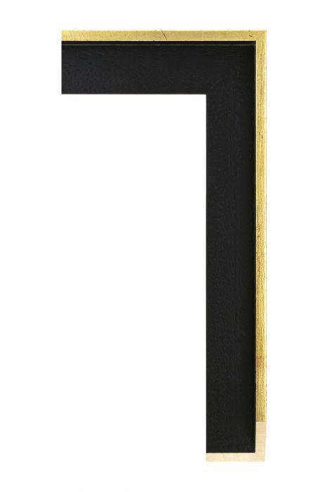 Houten lijst - AVANT I - Deens goud met zwart baklijst 40 mm breed