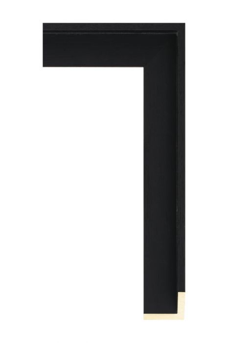 Houten lijst - AVANT I - Matzwart baklijst 40 mm breed