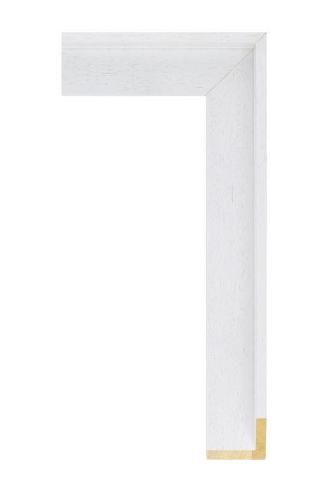 Houten lijst - AVANT I - Wit baklijst 40 mm breed