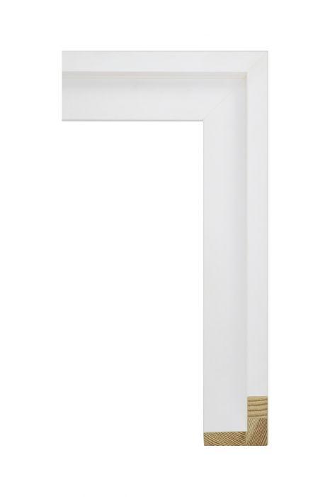 Houten lijst - AVANT II - Wit zijdenglans baklijst 46 mm breed