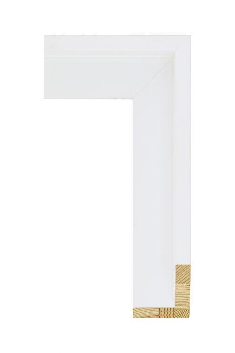Houten lijst - AVANT II - Wit zijdenglans baklijst 56 mm breed