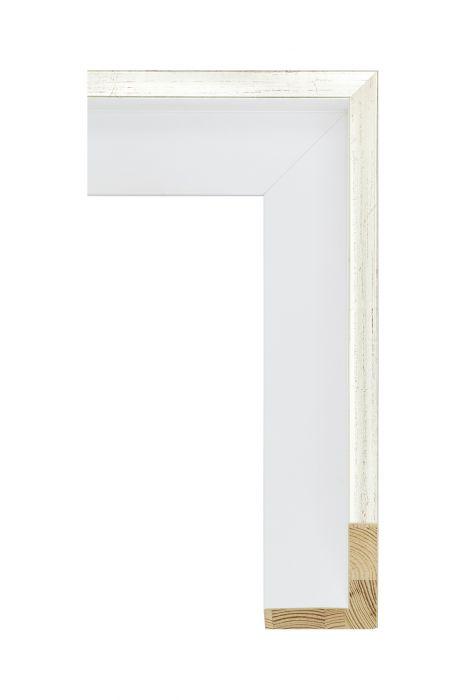 Houten lijst - AVANT II - Witgoud wit baklijst 56 mm breed