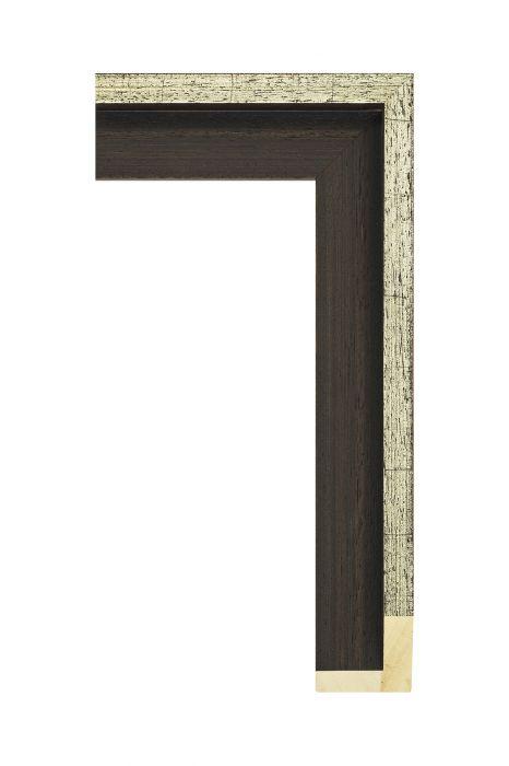 Houten lijst - AVANT II - Zilver baklijst 46 mm breed