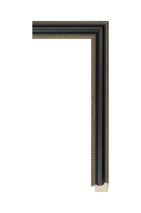 Houten lijst - BILLIARD - Zwart, parelrand 31 mm breed