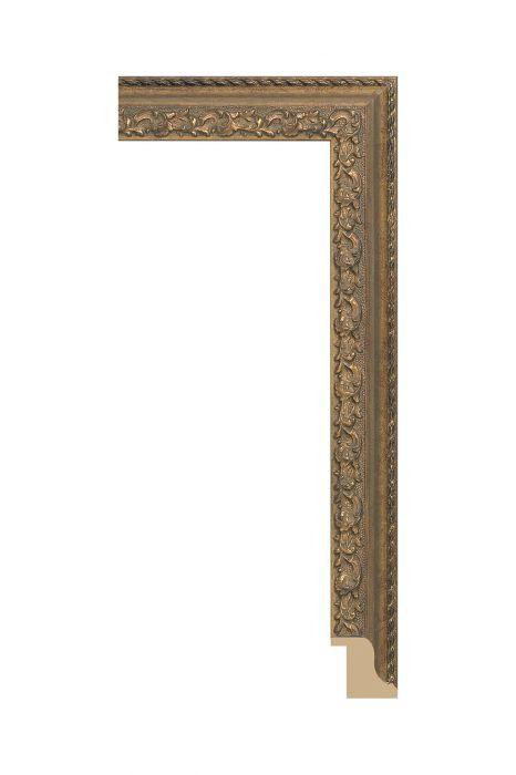Houten lijst - BILTMORE - Goud 52 mm breed