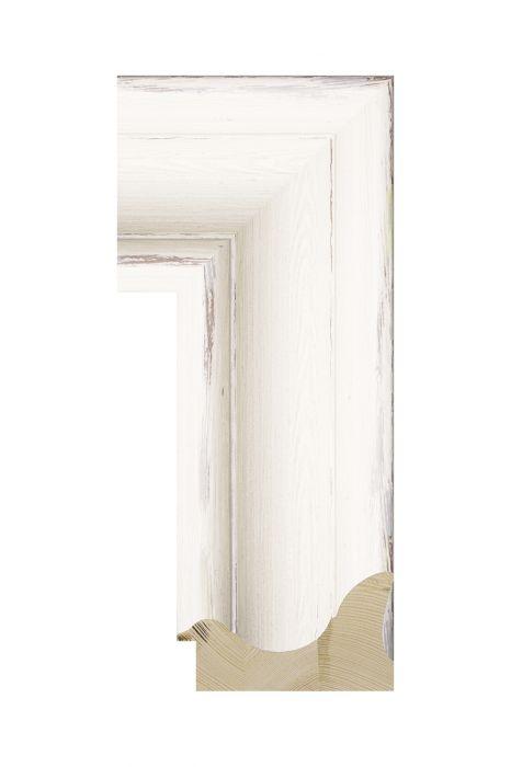 Houten lijst - BRIMFIELD - Wit 100 mm breed
