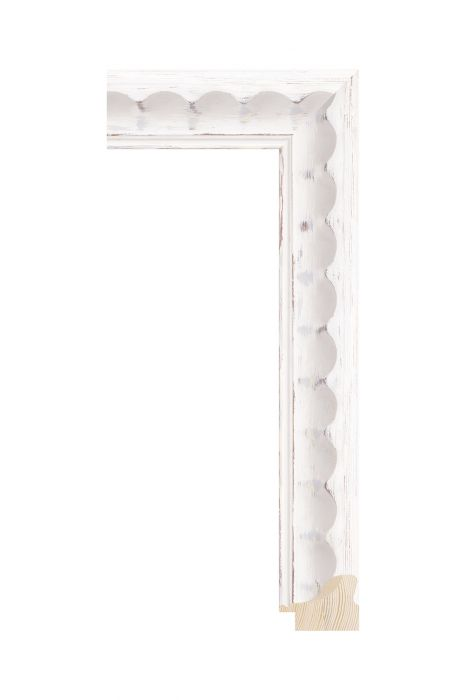 Houten lijst - BRIMFIELD - Wit 41 mm breed
