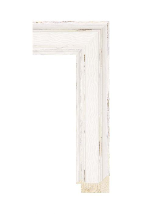 Houten lijst - BRIMFIELD - Wit 55 mm breed