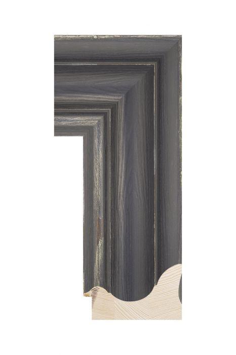 Houten lijst - BRIMFIELD - Zwart 100 mm breed