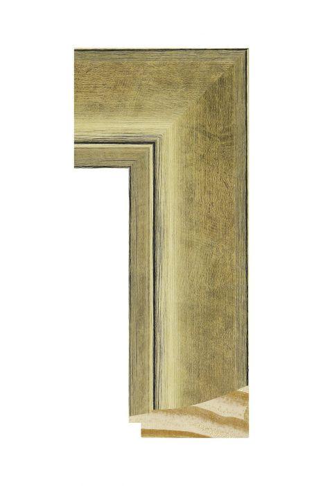 Houten lijst - CORONA - Goud 69 mm breed