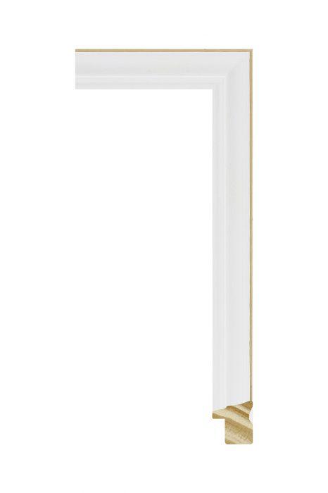Houten lijst - CORONA - Wit 16 mm breed