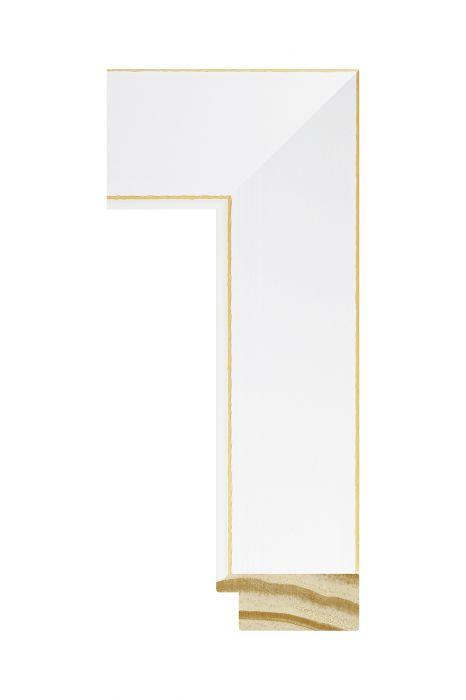 Houten lijst - CORONA - Wit 38 mm breed