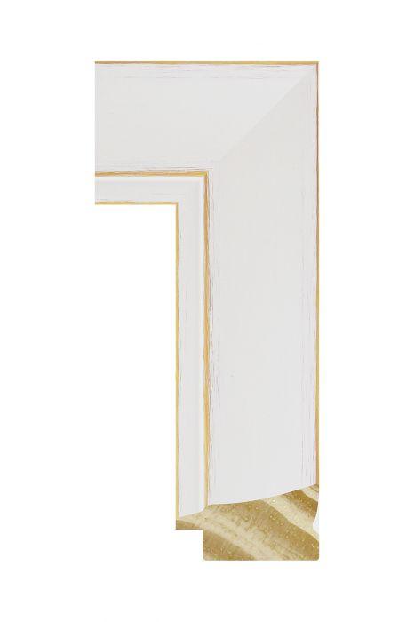 Houten lijst - CORONA - Wit 42 mm breed