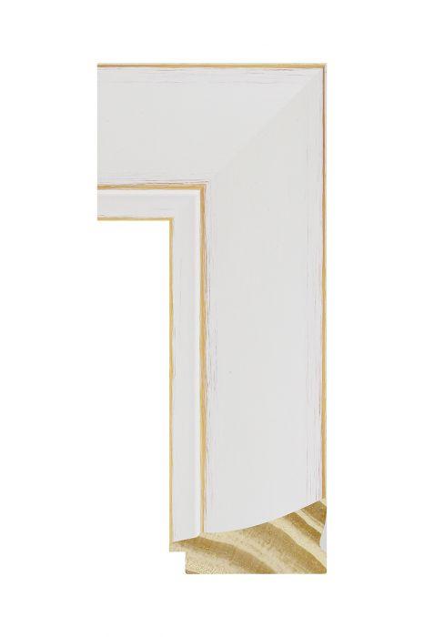 Houten lijst - CORONA - Wit 69 mm breed