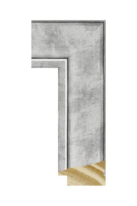 Houten lijst - CORONA - Zilver 42 mm breed