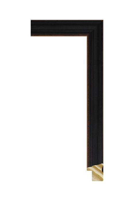 Houten lijst - CORONA - Zwart 16 mm breed
