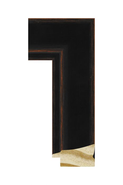 Houten lijst - CORONA - Zwart 42 mm breed