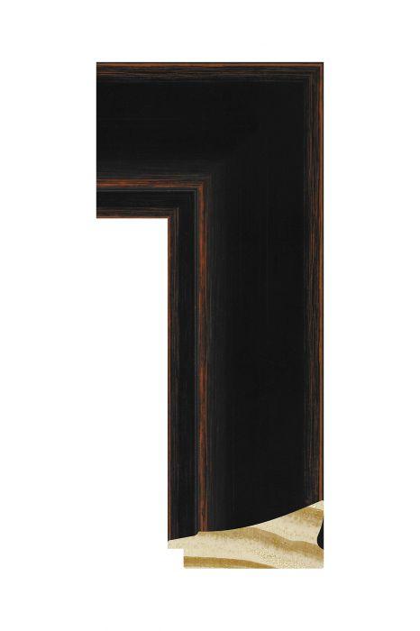 Houten lijst - CORONA - Zwart 69 mm breed