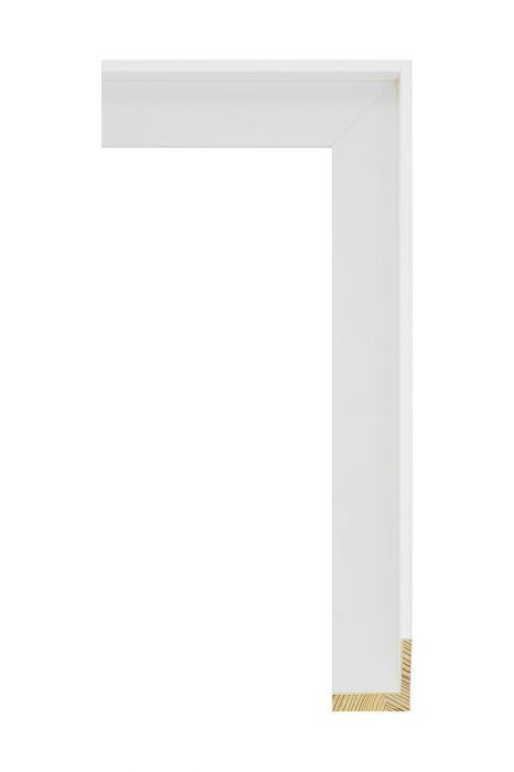 Houten lijst - FLOATS - Wit baklijst 35 mm breed