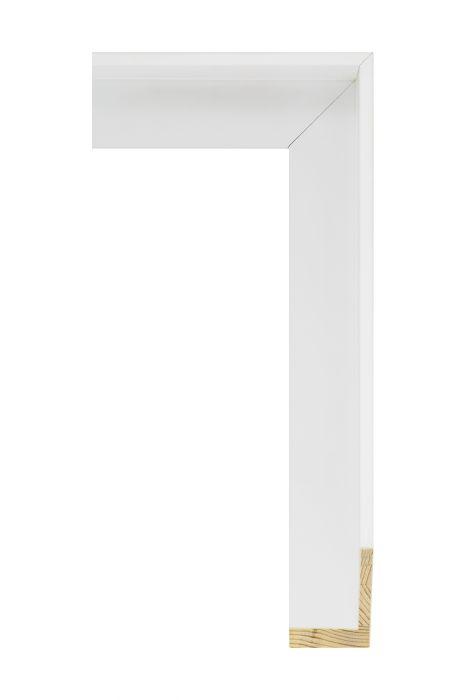 Houten lijst - FLOATS - Wit baklijst 40 mm breed