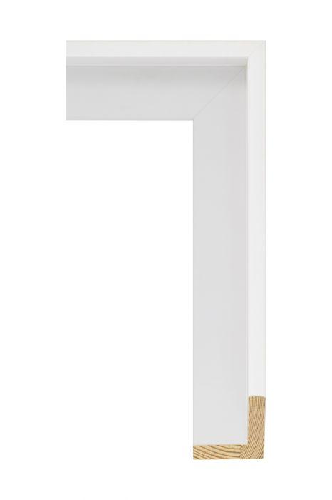 Houten lijst - FLOATS - Wit baklijst 50 mm breed