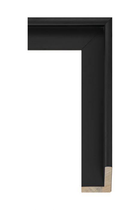 Houten lijst - FLOATS - Zwart baklijst 50 mm breed