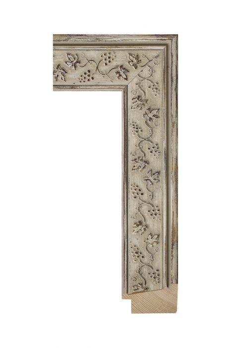 Houten lijst - ICON - Beige- ornament 48 mm breed