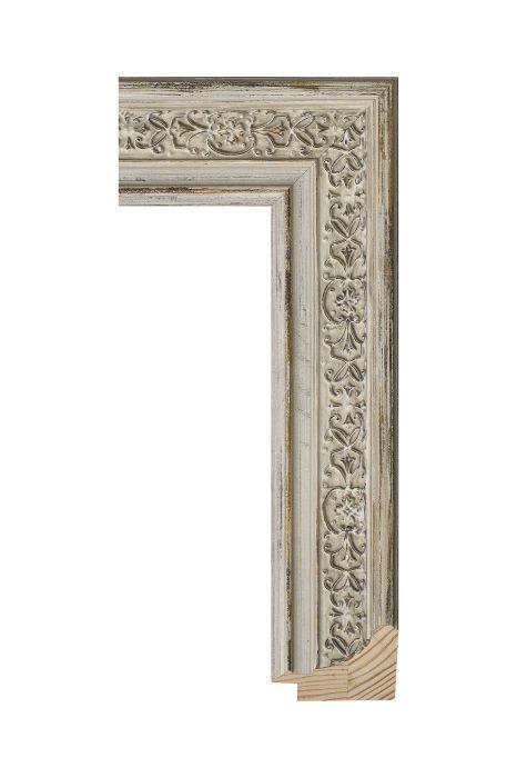 Houten lijst - ICON - Beige - ornament 49 mm breed