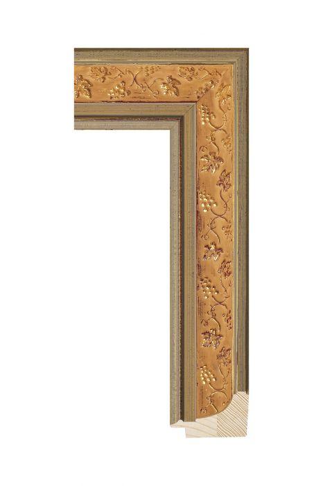 Houten lijst - ICON - Bruin goud - ornament 49 mm breed