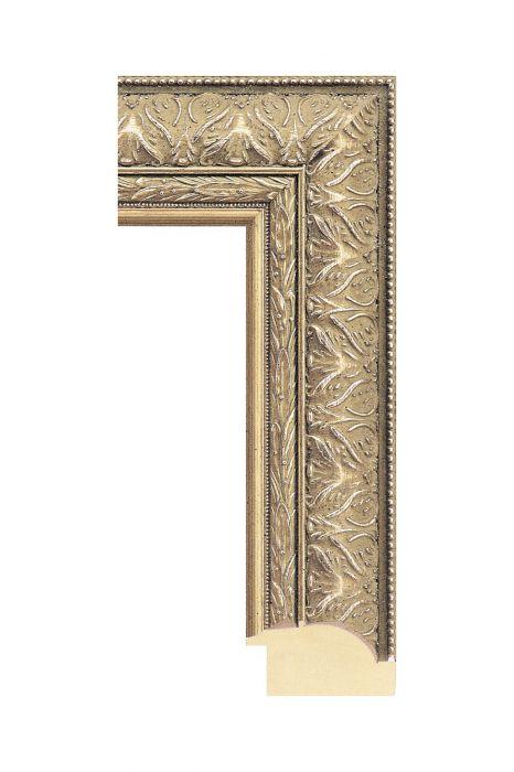 Houten lijst - IMPERIAL - Zilver 62 mm breed