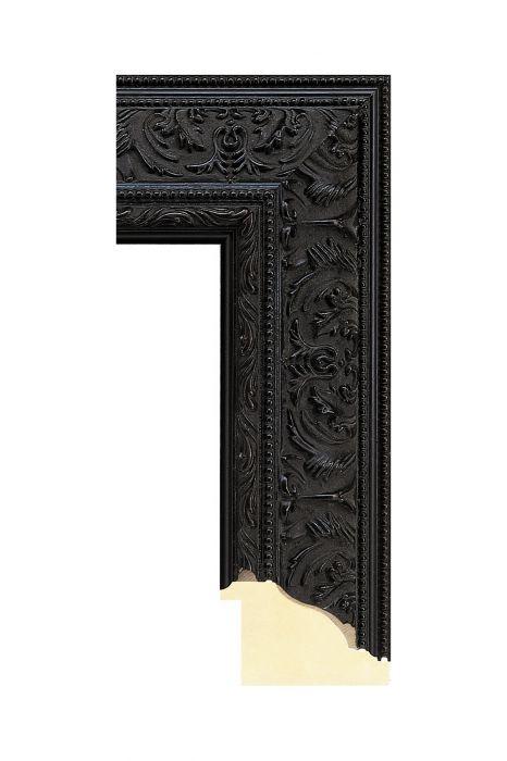 Houten lijst - IMPERIAL - Zwart 72 mm breed
