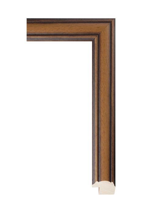 Houten lijst - LINE - Bruin 31 mm breed