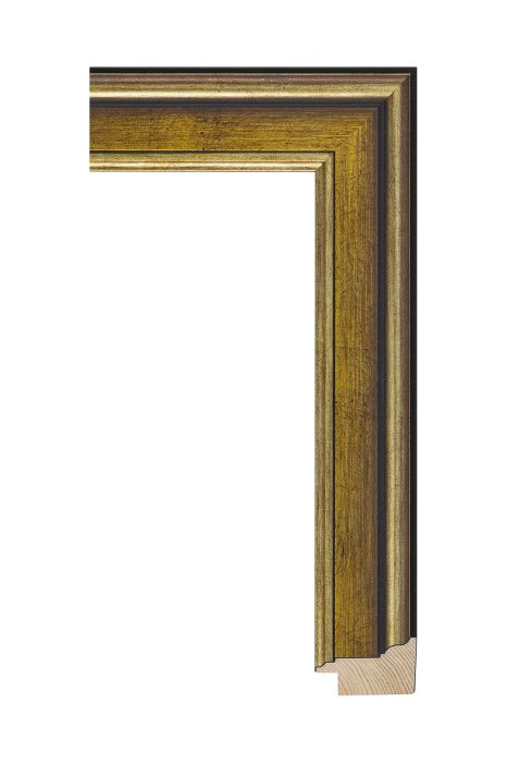 Houten lijst - MAESTRO - Antiek goud 45 mm breed