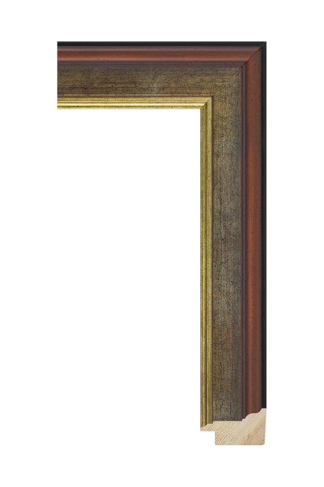 Houten lijst - MAESTRO - Antiek platina rood 45 mm breed