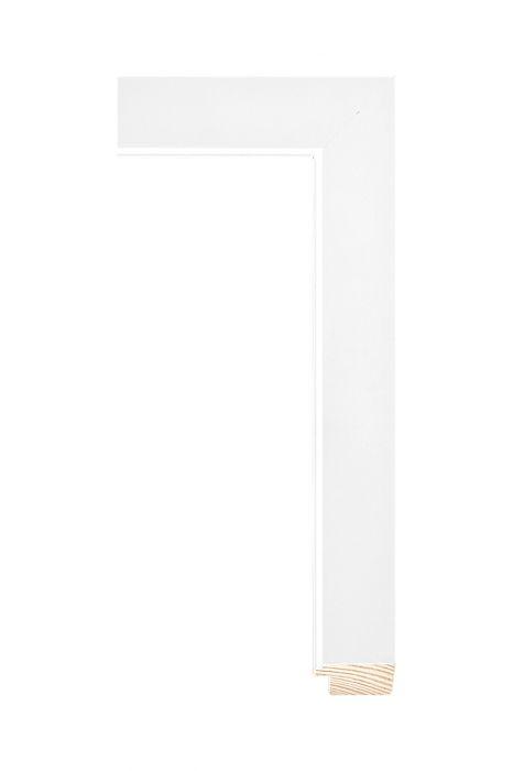 Houten lijst - MAGNOLIA - Wit 31 mm breed