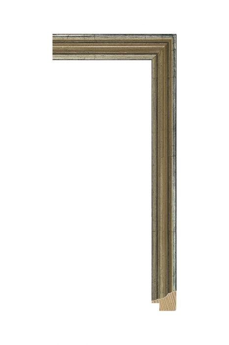 Houten lijst - MONDA - Zilver 25 mm breed