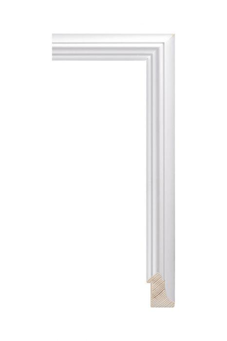 Houten lijst - NEAPOL - Wit 25 mm breed