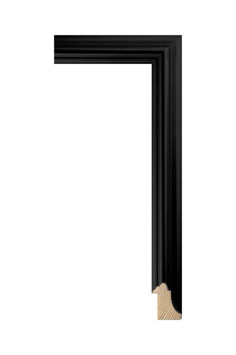 Houten lijst - NEAPOL - Zwart 25 mm breed