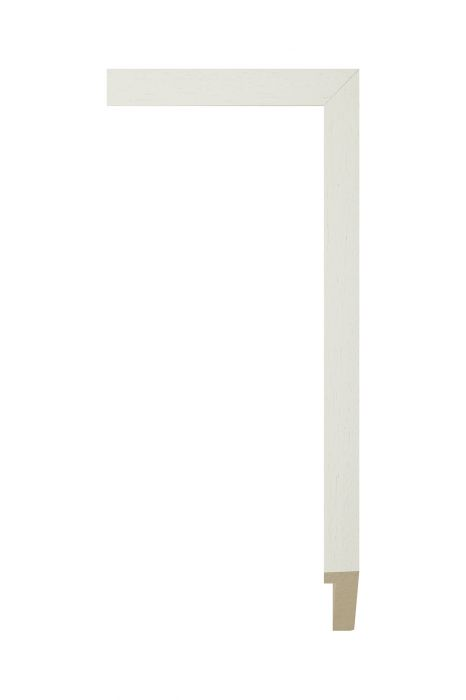 Houten lijst - PLUS - Wit 20 mm breed