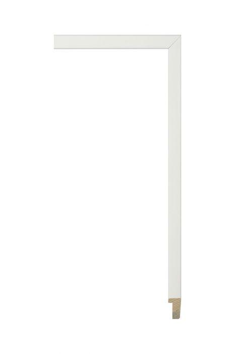Houten lijst - PLUS - Wit, zijdenglanslak 13 mm breed