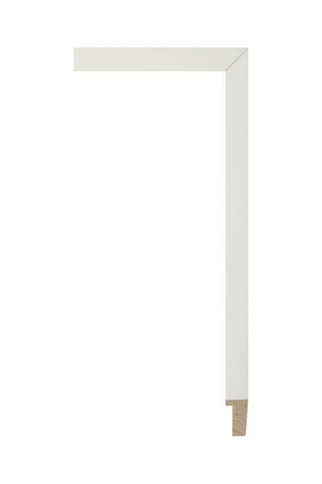 Houten lijst - PLUS - Wit, zijdenglanslak 16 mm breed